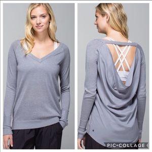 Lululemon drape open back sweater